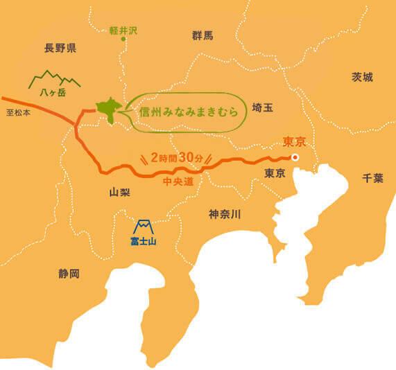 みなみまき村の地図
