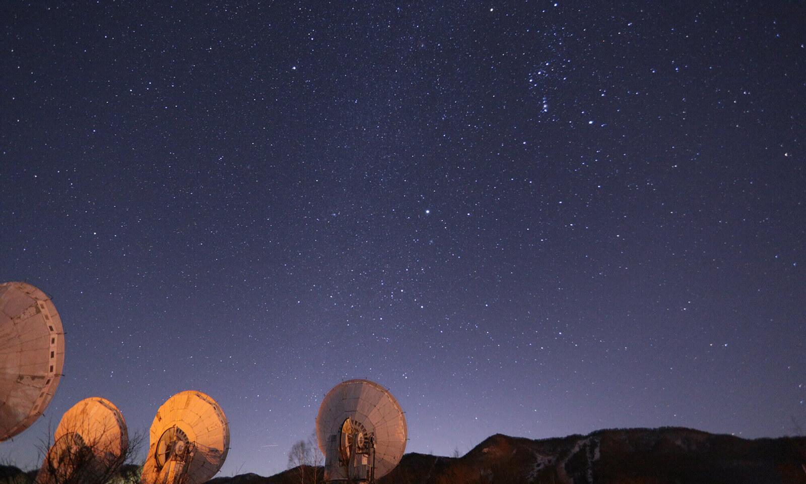 みなみまき村の電波天文台