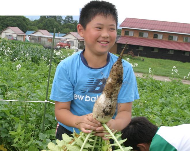信州みなみまきむらでの収穫体験