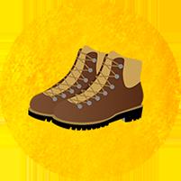 山歩きに適した靴や服装